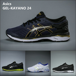 Wholesale Hot For Summer - 2018 Wholesale Asics GEL-KAYANO 24 For Men Running Shoes Best Quality New Hot Athletics Discount Sneakers Sports Shoes Boots