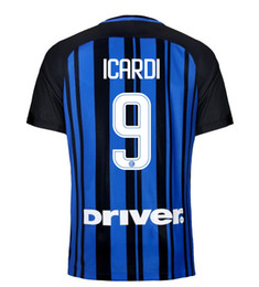 Wholesale Shirt Mario - 17 18 Inter Home Blue Black Soccer Jerseys ICARDI MARIO CANDERVA PERISIC Away White Football Shirts Milan Best Quality Maillot De Foot