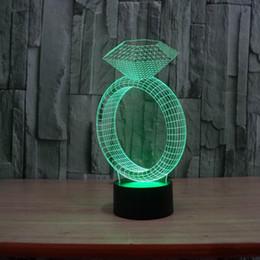 éclairage d'ambiance bricolage Promotion 3D tactile lampe lumières colorées Lampe LED acrylique illusion visuelle 3D lumière Atmosphère Mood Light Night