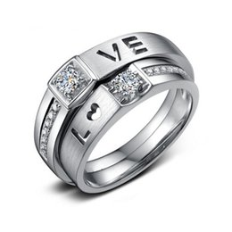 Wholesale Simulated Diamonds Jewelry For Men - Vecalon Brand Lovers Jewelry 925 Sterling Silver Ring 1 Carat Simulated Diamond Cz Engagement Wedding band Rings For Men Women