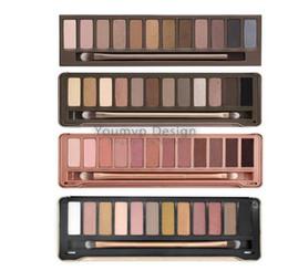 Wholesale Eyeshadow Platte - 12 Color NUDE Eye Shadow 15.6g Eyeshadow Platte With Brush Cosmetics Generation 1 2 3 5