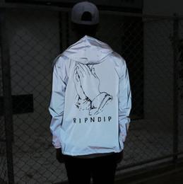 Wholesale Men Jacket Waterproof Windbreaker - 2017 new fashion 3m reflective jacket men women windbreaker hip hop jaqueta masculino waterproof ripndip jackets coat anorak