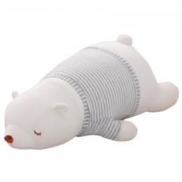 45-75cm grand taille ours en peluche blanc jouets en peluche jouets de nanoparticules se trouvant sur le devant grand poupée polaire poupée chiffon enfants cadeau ? partir de fabricateur