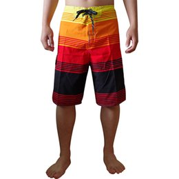 Wholesale Hit Bottom - Wholesale-Fashion Mens Beach Short Hit Color Design Drawstring Loose Bottoms Casual Boardshort For Males Summer Homme Man Quick Drying