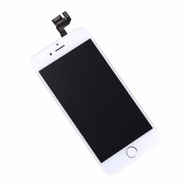 Wholesale Iphone Home Button Tools - Grade AA++ white black lcd display touch screen with digitizer home button front camera replacement part assembly Tools for iphone 4.7 6s