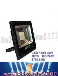 Wholesale Flood Sale - Hot Sale Rushed Outdoor Led Floodlight Ip66 100w Flood Light Waterproof Wash 85-265v Street Lamp Luminaire Tunnel Lights Energy Saving LLFA