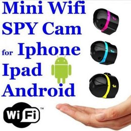 Wholesale Mini Ip Wireless Cam - HOT AI Ball Mini Wifi Spy Cam ultra-portable IP Wireless Surveillance Camera use on PC or smart phones FREE SHIPPING