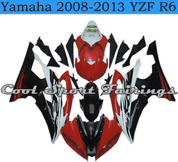 Wholesale Injection Yamaha R6 - Red Black Bodywork New Plastic Fairings Kit fit for Yamaha 2008-2013 YZF R6 plastic fit for YZF R6 YZF r6 2008 2009 2010 2011 2013 bodywork