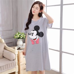 Wholesale Home Clothes For Women - Fashion Women Summer Night Skirt Leisure Home Clothes Short Sleeve Longuette NIghtgown For Women Serve Spring Sleepwear Girl
