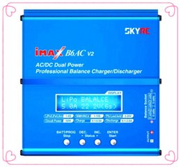 Wholesale Motor Balance - Wholesale- 100% Original SKYRC IMAX B6AC Charger 50W Lipo Battery Balance RC Discharger Helicopter Quadcopter With Power Adapter