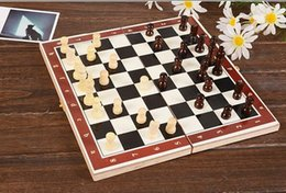 Wholesale Game Chess - Folding King's European International Chess Wooden Wood Game Set