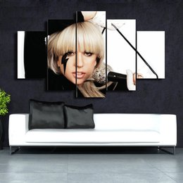 Wholesale Wall Plates Cheap - 5 Pcs Set Gaga HD Picture Canvas Print Painting Wall Art For Wall Decor Home Decoration Cheap Artwork DH010