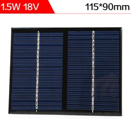 Wholesale Diy Mp3 - ELEGEEK 1.5W 18V 115*90*3mm Free Shipping Polycrystalline Silicon Solar Cell Mini Solar Panel for DIY and Solar System Test