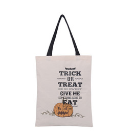 Wholesale Wholesale Fun Candy - FUN 10Pcs Halloween Pumpkin Bags CottonTRICK OR TREAT Bag Kids Handbag Large for Child Candy Pack
