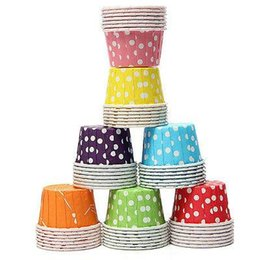 Wholesale Mini Baking Cups - 100pcs lot colorful Cute Wedding, Birthday, Baby shower Party Cake Decorating Muffin Cupcake Cases Tools Mini Paper Baking Cups