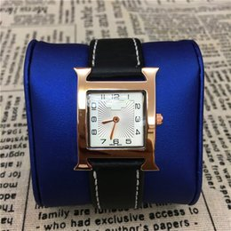 Wholesale Watch Women Rose Gold Square - Top Brand Women Watches Leather Rose Gold Ladies Quartz Fashion Dress Watches Female Clock Square Dial Face 15pcs DHL Freerelogio masculine