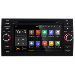 Wholesale Radio Car Dvd Gps Ford - Joyous Double Din 7 inch Quad Core Car DVD Player For Ford Focus Mondeo Galaxy Android 5.1 GPS Navigation Radio AUX Multimedia System Audio