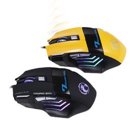 Wholesale Wholesale Wired Mouse Buttons - Professional Wired Gaming Mouse 7 Button 5500 DPI LED Optical USB Computer Mouse Gamer Mice X7