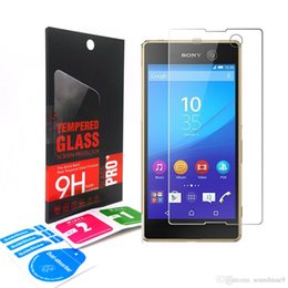 Wholesale M Glasses - Tempered Glass For Sony Xperia M6 M4 Aqua M M2 M5 include Aqua Models Premium Ultrathin 0.33mm Explosion Proof Clear Screen Protective Film