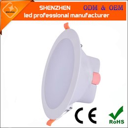 Wholesale Ceiling Light Glare - New arrival Recessed Downlight 5inch 6inch LED ceiling light white shell warm white cold white AC85-265V anti glare panel led downlights
