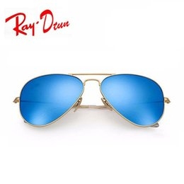 Wholesale Beach Sales - Raydtun Hot Sale Gafas Gradient Gray Blue Brown Style Mirror glass Sun Glasse oculos de sol FEMININO UV400 Men Women Sunglasses 58mm 62mm