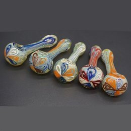 Wholesale Spoon Single - Wholesale Heavy Glass Pipes with Single Glass Bowl Bubbler Spoon Straight Handblown Water Bongs Fantastic Design Mini Smoking Pipe