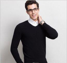 Wholesale Mens Wool Jerseys - TOP100% Cotton Sweater Men POLO sport Sweater Blusa Masculina Mens Sweaters Jumpers knitting Men V-Neck Sweater Jerseys