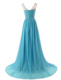 Wholesale Sexy Size 18 Dresses - 2016 18 Colors Long Prom Evening Dress Scoop Sleeveless Beading Crystals Dress Cheap Formal A-line Evening Gowns Dress