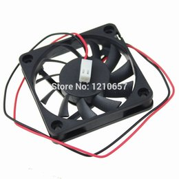 Wholesale copper motors - Wholesale- 5 PCS LOT DC 5V 2Pin 2510 Connector Motor 6010 60mm 60*60*10mm 6cm Computer Case Cooling Fan