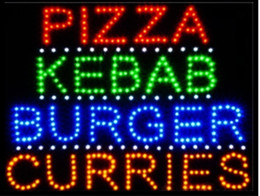 Wholesale Custom Pizza - 2016 Special Offer Hot Sale custom Graphics 15mm indoor Ultra Bright 19X19 Inch pizza kebab burger curries store sign of led