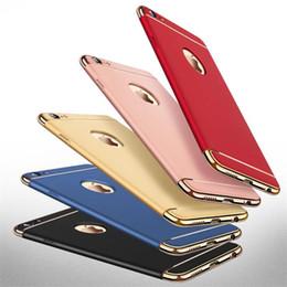 Luxe 3 en 1 Design Mat givré Hybride Mince Anti-Choc Dur En Plastique Armure Couverture de Cas Pour iPhone 7 Plus 6 6S ? partir de fabricateur