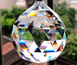 Wholesale Hanging Glass Curtains - AAA grade 10 Pcs Huge 80mm Glass Chandelier Hanging Crystal Ball Suncatcher crystal curtain Fashion pendant