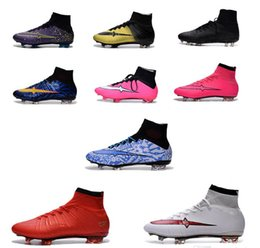 Wholesale Top Quality Leather Boots - Free shipping!100% original Superfly FG CR7 Football Boots Men Top Quality Soccer Shoes Botas Futbol Hombre Outdoor Soccer Boots