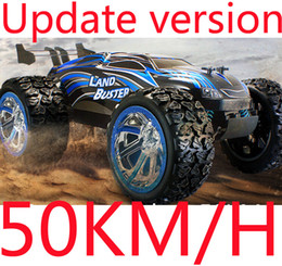 Wholesale Nitro Power Truck - Wholesale-Big Size !! 4CH Drifting Drive 4WD High Speed 50KM H RC Truck Land Buster RC Truck Remote Control Super Power Off-Road Vehicle