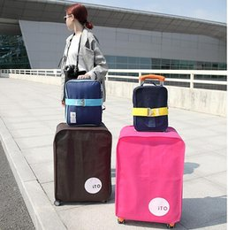 Wholesale Trunk Suitcase Luggage - 3 Colors 5 Sizes Non-woven Anti-Dust Travel luggage covers Durable Suitcase protective cover for Trunk Case Apply to 20''~30'' Inch Suitcase