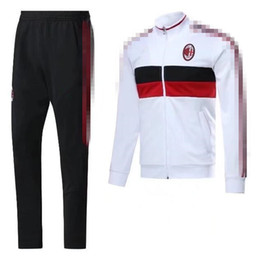 Wholesale Honda Kits - top quality 2017 2018 AC milan soccer jersey jacket training suit kits 17 18 MENEZ HONDA BACCA tracksuit jacket Sweatshirt free shipping