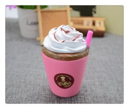 Wholesale Iced Coffee Wholesale - Wholesale Hot Arrival Ice Cream Squishies Coffee Cup Squishy Toys Slow Rising Cute Kid Toy Scented Soft Squeeze Gift Phone Straps Free