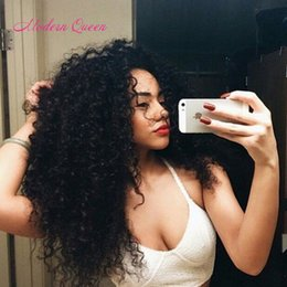 Wholesale Ali Queen - Peruvian Kinky Curly Human Hair Extensions 2 Bundles Peruvian Kinky Curly Hair Weave Ali Queen Cheap Peruvian Bulk Hair Wet Wavy Inch