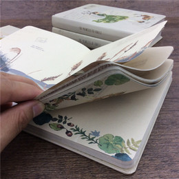 Wholesale Notepads Designs - Wholesale- Notebook paper thicken books artistic 32K diary memos color plates printing Collection Notepad design Stationery illustration XM