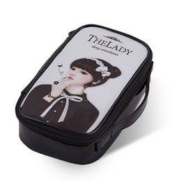 Wholesale Cute Cheap Cases - Cheap PVC cosmetic bag 20*12*5cm makeup tools organizer PVC leather makeup case Cosmetic case Cute Girl Plastic Cosmetic Bag free shipping