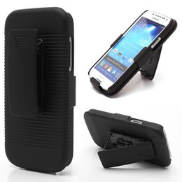 Wholesale Case S4mini - Hot Sell Black Belt Clip Swivel Kickstand Holster Case Cover For Samsung Galaxy S4mini i9190 free ship
