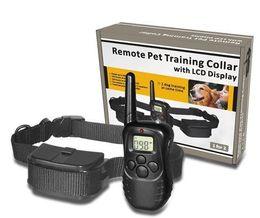 Pet Training Remote Control Electronic Dog Training Collar Pet Stop Barking Dispositivo One to One DHL Free 161008 da animali domestici di scherma di plastica fornitori