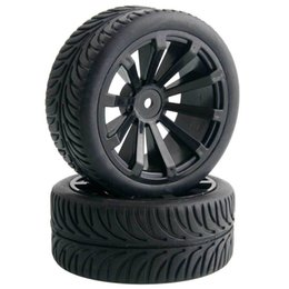 Wholesale Tyre Rc Cars - 4x RC 601-8007 Offset:6mm Flat Racing Tires Tyre Wheel Rim Fit 1:10 On-Road Car