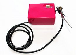 Wholesale Compressor Airbrush - Wholesale-Mini Airbrush kit makeup system Airbrush compressor kit with 0.4mm single action airbrush 3 level working pressure adjustable
