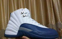 Wholesale Perfect Basketball Shoes - Drop Shipping Super Perfect Quality Retro 12 Flu Game French Blue The Master With Box Men Basketball Sport Shoes Ship out in 2days