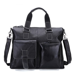 e0f4dd54ecd Wholesale- Vintage Genuine leather men s bag briefcase Retro messenger laptop  bag handbag men travel bags high quality Shoulder bag