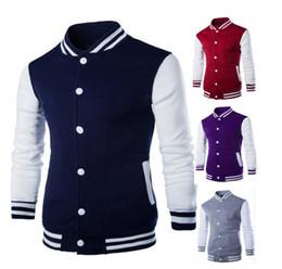 Wholesale Letterman Jacket Hoodie - 2016 Premium Varsity College Letterman Baseball Jacket Uniform Jersey Hoodie Hoody US M L XL XXL