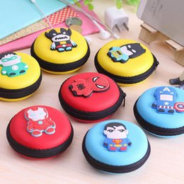 Wholesale Cute Candy Storage Box - Wholesale Cute Cartoon Candy Color Silicone Coin Purse Key Wallet Earphone Organizer Storage Box Free Shipping
