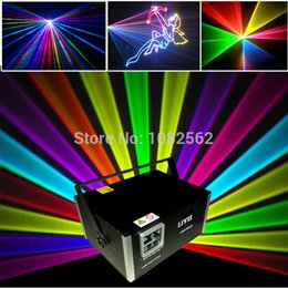 Wholesale Animation Laser 2w - 2W SD Card Animation RGB Logo outdoor Laser Light wedding party dj laser light show free shipping