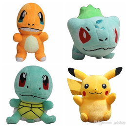 Canada Poke Jeu Peluches mignon monstre de poche broderie Peluches 6 pouces Poke Mon Pikachu Charmander Bulbizarre Squirtle Dolls anime video games for sale Offre